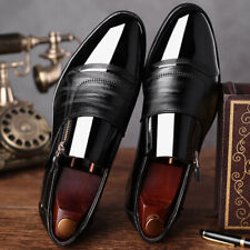 Non Slip Plain Mens Design Tuxedo Formal Shoes Brogue Pointed Toe Patent Leather