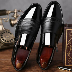Men Oxfords Leather Dress Shoes Business Pointed Toe Wedding Formal Office Shoes