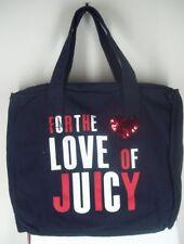 Juicy Couture Black Love of Juicy Sequin Zip Top Tote Shoulder Bag NEW MSRP $88
