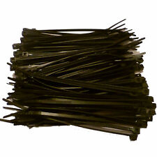 200 x BLACK Cable Ties 100mm x 2.5mm - Nylon Zip Ties