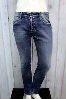 DSQUARED2 Jeans Uomo Taglia 46 Pantalone Regular Cotone Pants Men Man Italia