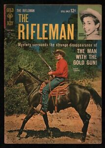 Rifleman (1959) #19 Gold Key Chuck Connors TV Photo Cover Johnny Crawford VG+