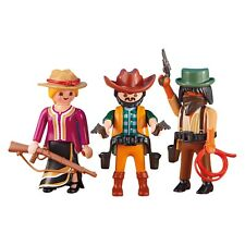 Playmobil 2 Cowboys And 1 Cowgirl Building Set 6278 NEW Toys Kids