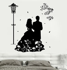Wall Decal Love Very Romantic Couple Mural Vinyl Decal (z3189)