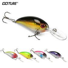 Goture 5pcs/lot Crankbaits Minnow Fishing Lures Bait Hook Wobblers Freshwater
