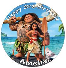"Moana Disney Princess Personalised Cake Topper 7.5"" Edible Wafer Paper"