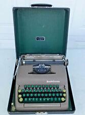 1950 Vintage Smith Corona 5A Series Green Keys Typewriter w/Case 5A307045