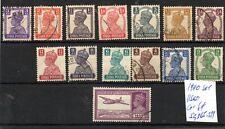 India (5637)  1940 King George V1 used set Sg265-277