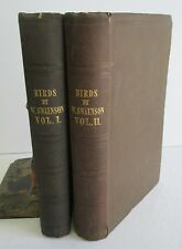 On The Natural History & Classification of BIRDS by Wm Swainson, 2 Vols 1836-37