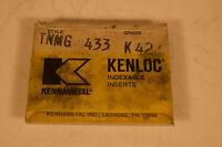 Surplus NOS Kennametal TNMG 433 K42 Inserts Lot of 3 Piece