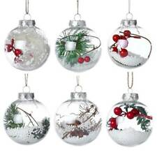Christmas Tree Pendant Hanging Home Ornament Christmas Decorations Plastic Balls