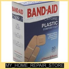 FREE S&H! 30  ASSORTED BAND-AID PLASTIC COMFORT-FLEX BANDAGES / TAPERED SHAPE