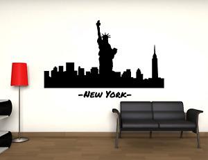 Adesivo New York Skyline statua libertà stickers murale decalcomania 02