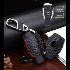 Mercedes-Benz Key Leather Case Cover Bag Car Logo Keyring Chain