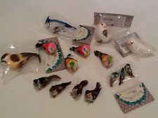 """Lot Of 15 Assorted Artificial Birds For Crafts Floral Wreaths Etc! 1-3 """" Long"""