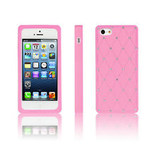 Diamond Silicon Phone Case Cover For Apple iPhone 4/5 Samsung S3/S4/S5 S4 Mini
