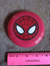 "Marvel Spiderman Mini Flying Disc Frisbee 4"" Collectible Toy Red FREE SHIP"