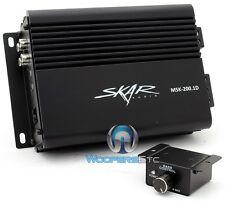 SKAR AUDIO MSK-200.1D MONOBLOCK 436W MAX SUBWOOFER SPEAKER MINI SMALL AMPLIFIER