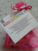 Nana`s Survival Kit Fun Novelty Christmas Birthday Keepsake Gift