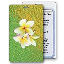 3D Lenticular Luggage Bag Travel Tag Hawaiian Plumeria Flower #LT01-213#