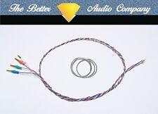 "9"" Tonearm Rewire Kit.Ready Fitted Cartridge Tags, Cardas 4x33 Tonearm Wire"