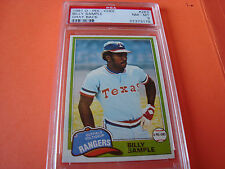 1981 OPC o-pee-chee #283 Billy Sample psa 8 GB Gray Back Texas Rangers