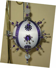 """""""Passion for Purple"""" kit makes 1 Ornament Christmas Beads sequins Satin Craft"""