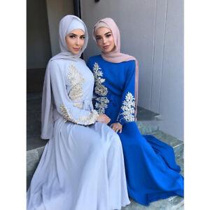 Muslim Abaya Women Long Maxi Dress Kaftan Robes Caftan Party Gown Arab Ramadan