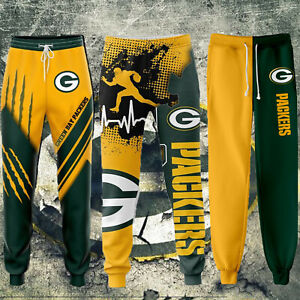 Green Bay Packers Casual Joggers Pants Sweatpants Loose Active Sport Trousers