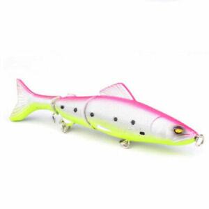 1 x Pike Fishing Lure Multi Jointed Jerkbait Crankbait Predator Fishing Tackle