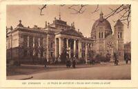 STRASBOURG - le palais de justice et l'église Saint-Pierre-le-jeune