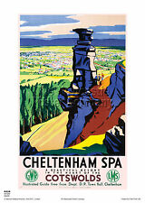 CHELTENHAM SPA GLOUCESTERSHIRE RETRO VINTAGE RAILWAY TRAVEL POSTER ADVERTISING