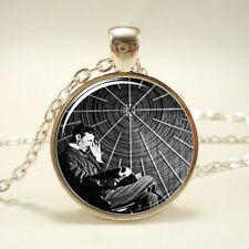 Nikola Tesla Necklace, Famous Inventor Inspirational Jewelry necklace