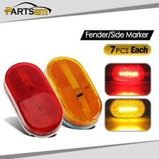 """14x RED / AMBER 4"""" Led Clearance marker Trailer RV Light 6 Diodes surface mount"""