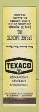 Matchbook Cover - Texaco oil gas Garage Lacoste Rouville QC