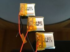 Li-Po 3.7V 100 mAh Polymer Battery 651717 PCM Rechargeable Batteries (3 pack)