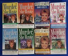 Lot of 8 Murder, She Wrote Paperbacks by Jessica Fletcher & Donald Bain