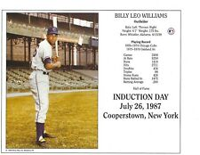 "Billy Williams - Chicago Cubs Hall of Fame Supercard 8"" x 10"" Photo"
