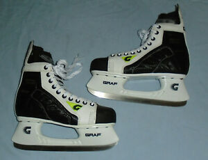Graf lce Ultra F10 Skate Skating Boots Shoes SIZE 8 UK or 42 EU Black / White