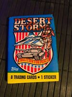 1 Pack Desert Storm Unopened Trading Cards Wax Sealed 8 Cards New Topps
