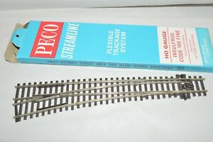 HO scale track Peco code 100 nickel silver left hand curved switch turnout