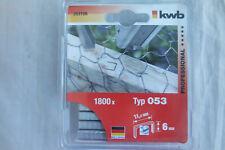 KWB Tackerklammern Type 053 6 mm Normaldraht 11,4 mm 1800 stück