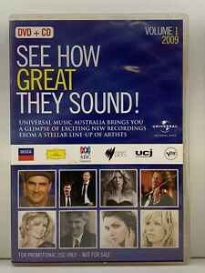 DVD - See How Great They Sound! 2009 - Volume 1 One - REGION 1 - FREE POST #P2