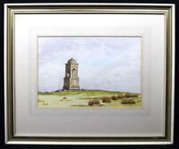Original Irish Art Watercolour Painting Mussenden Temple Signed c1970