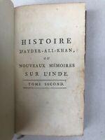 HISTOIRE D'AYDER-ALI-KHAN NABAB-BAHADER - NVX MEMOIRES SUR L'INDE - TOME SECOND