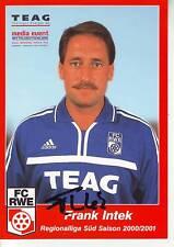 FOOTBALL carte Co-trainer FRANK INTEK équipe FC ROT WEISS ERFURT signée