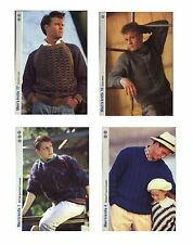 FOUR Get Knitting Patterns - Men's Mohair Sweaters
