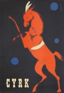 Original Vintage Poster Cyrk Polish Circus Gorka Horse 1962