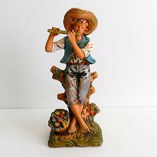 Vntg Napcoware Boy Playing Flute Statuette Arcadia C-6697 *See Description