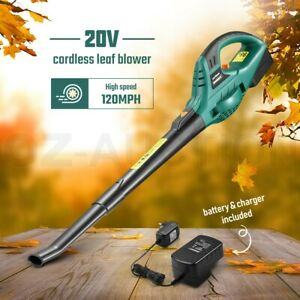 20V Cordless Leaf Blower Electric Lithium-Ion Battery Handheld Garden Clean Tool